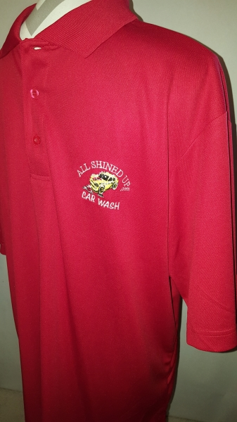 Men's Polo Red Button